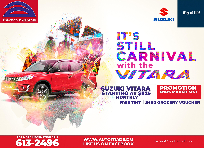 A Suzuki Carnival with Vitara