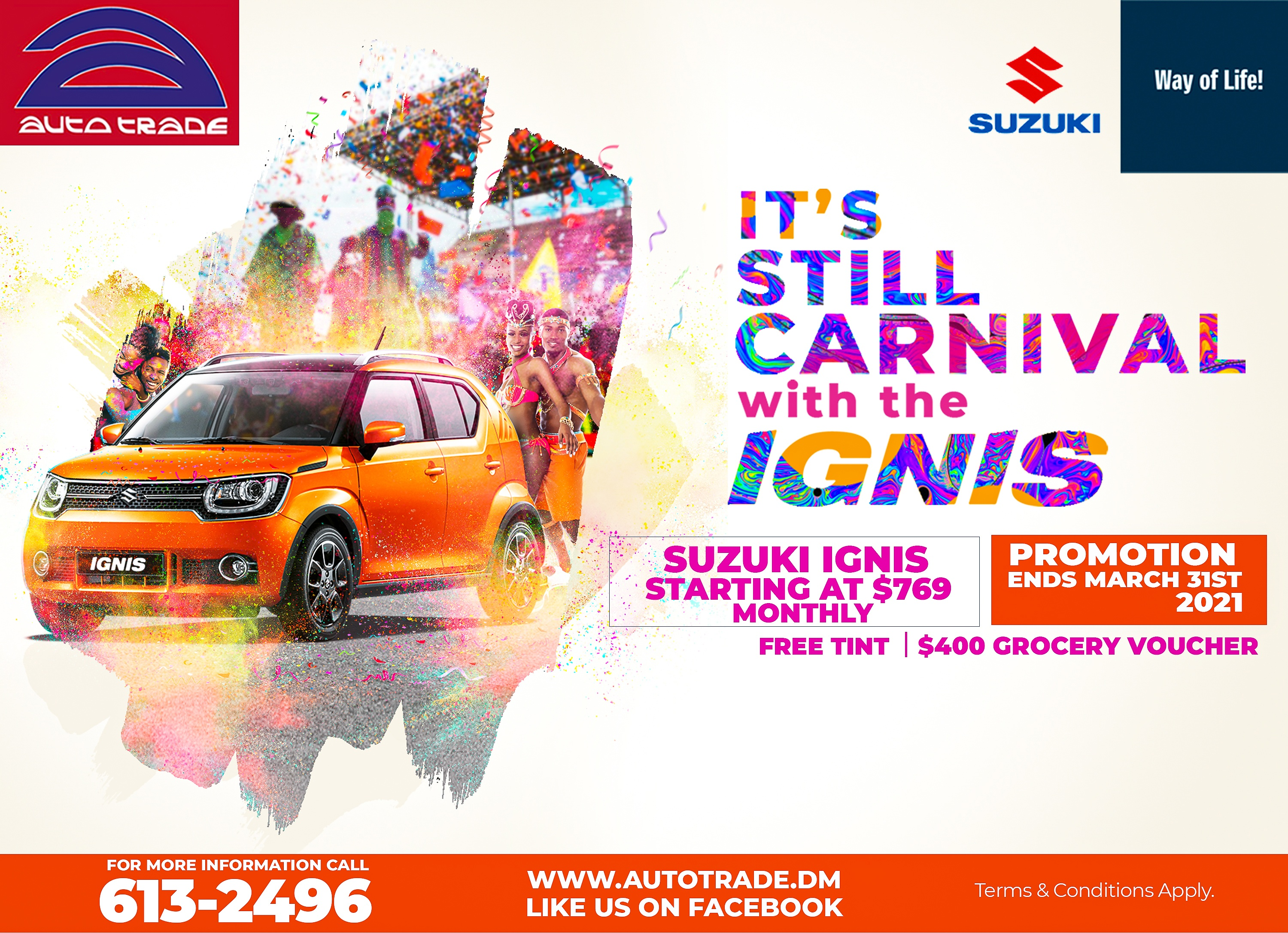 A Suzuki Carnival with Ignis